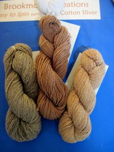 From right to left: Natural GREEN, Natural CINNAMON, Pima BROWN