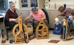 Students spinning