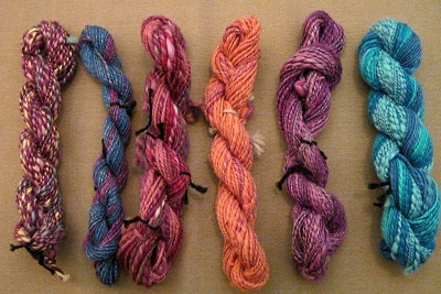Yarn created from dyed ACALA COTTON LINT!