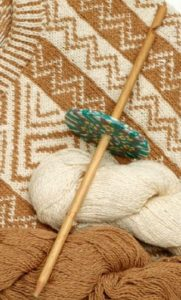 Jill's handmade spindle and the cotton she spun on it