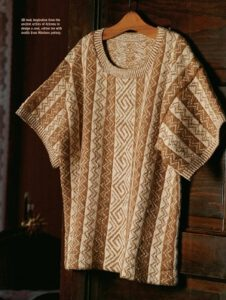 Jill spun the all of the cotton yarn, created the pattern and knitted this tee!